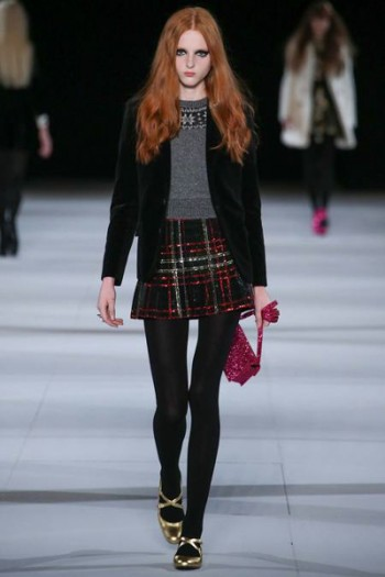 юбка в клетку от Saint Laurent