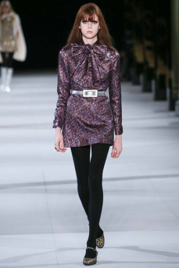 платье мини от Saint Laurent